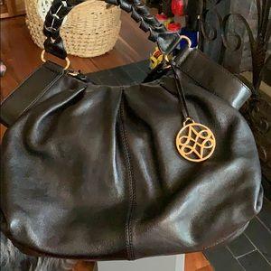 NWT, Antonio Melani smooth black leather